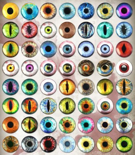 "Details about  /1/"" Blue Human Doll Eyes Realistic Glass Taxidermy Eyeballs 25mm"