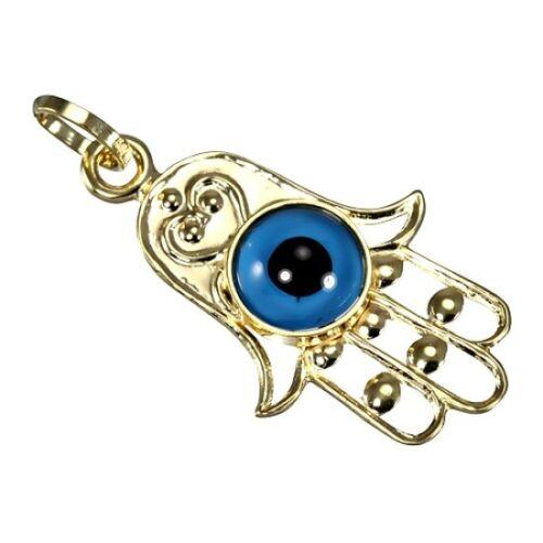 9ct Gold Evil Eye Hamsa Charm