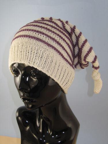 Impreso Knitting instructions-stripe topknot Pixie Sombrero Tejer patrón
