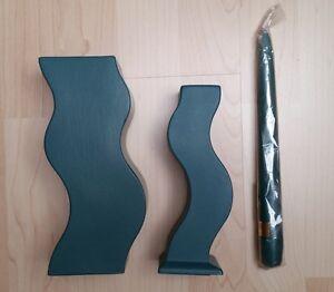 Asa-Blumenvase-mit-passendem-Kerzenstaender-und-Kerze-gruen