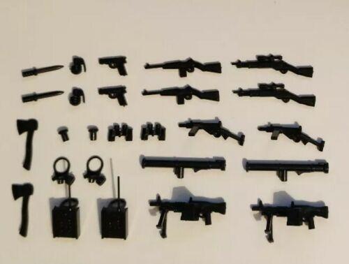 26pcs Lego Guns Classic WWII Weapons Pack Custom
