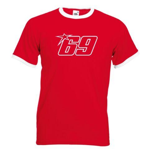 Nicky Hayden 69 homme moto GP Legend Ringer T Shirt Top