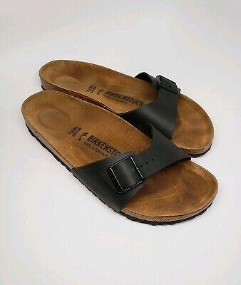 Women's US Sz 10 EUR 41 Narrow Madrid Birko Flor Black Birkenstock Sandals | eBay