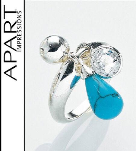 Nuevo real joyas ring 925er-Sterling plata 3 colgantes de 20 21 apart 735525 Wow