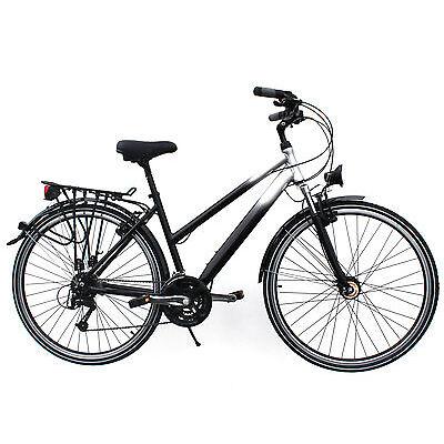 "Retoure: Tourenrad 28"" Zoll Alu 27 Gang Damen RH 46 cm Fahrrad STVZO Nabendynamo"