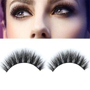dd0cdf6c72d Makeup 100% Real Mink Natural Thick False Fake Eye Lashes Eyelashes ...