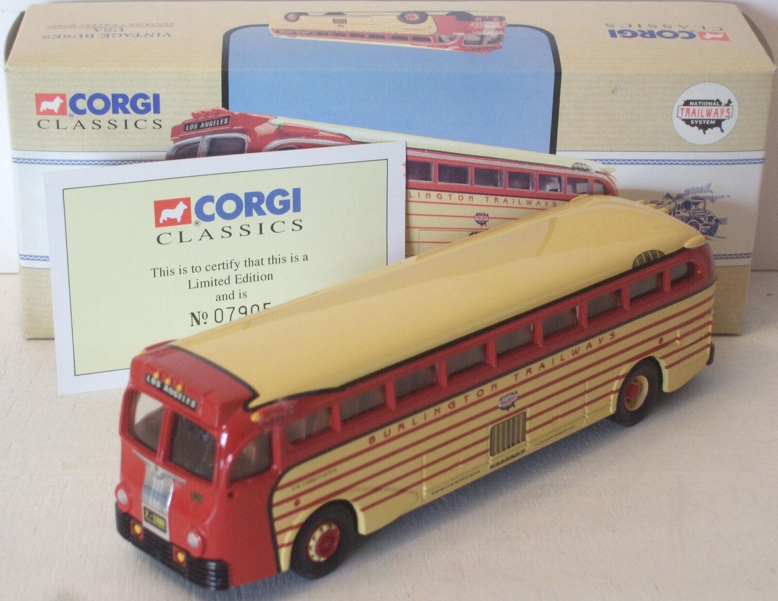 Corgi Classics Burlington Trailways Bus 743 NICE 98465 (see photos)