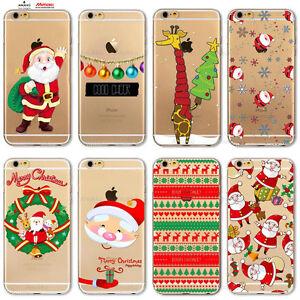 Custodia Cover Design Buon Natale Per Apple iPhone 4 4s 5 5s 5c 6 ...