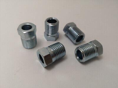 "1.5 GM {OLIVE} FUEL LINE TUBE NUTS 5 pcs 3//8/"" x 16mm"