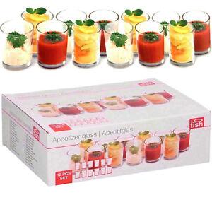 12-pieces-aperitif-Ensemble-De-Verre-mini-plat-Shot-tasses-verrines-dessert