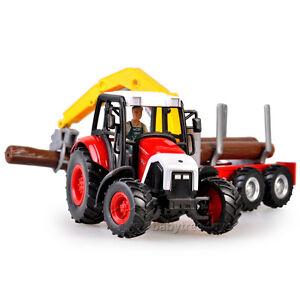 New-1-43-Scale-Diecast-Farm-Vehicles-Wooden-Grasping-Cart-Farmer-Model ...