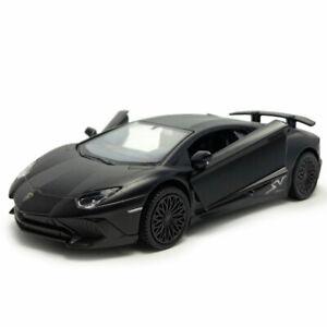Lamborghini-Aventador-LP750-4-SV-1-36-Die-Cast-Modellauto-Spielzeug-Kind-Schwarz