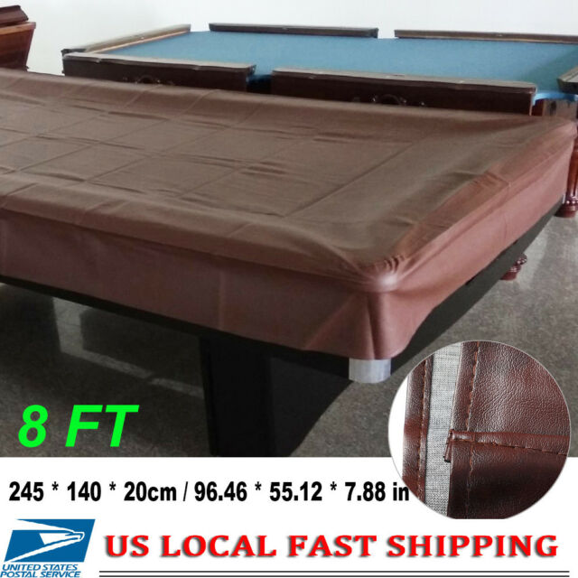 8ft Heavy Duty Fitted Leatherette Billiard Snooker Pool Table Cover Dustproof