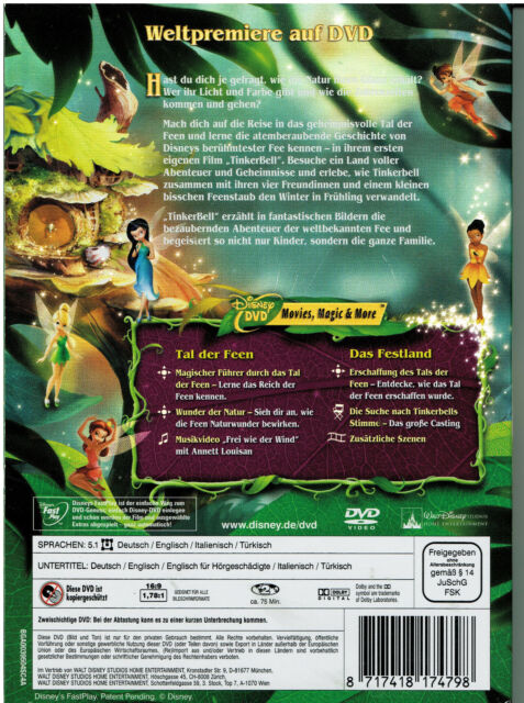 Walt Disney - TinkerBell -Besuche die Welt der Feen 2008 DVD FSK0