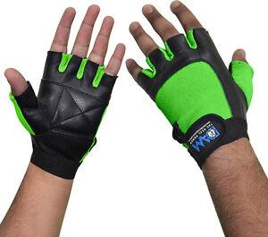 Unisex Full Finger Sport Glove Fitness Exercise Body Building Workout Green XL