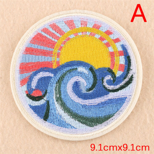 Embroidery Sew Iron Patch Badge Transfer Fabric Bag Hat Jeans Applique CraftFO