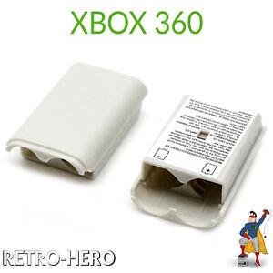 Akku-Batterie-Gehaeuse-Deckel-Cover-fuer-Xbox-360-Weiss-Controller-Fach-Gamepad