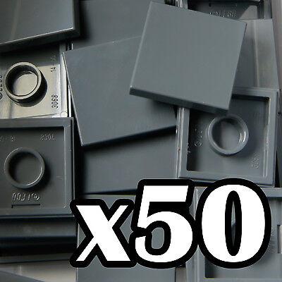 Dark Stone//Bluish Grey - Part 3068 Dark Grey x20 LEGO® 2 x 2 Tile