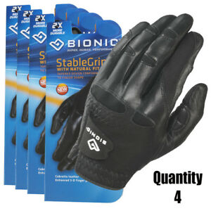 4-x-Bionic-Mens-StableGrip-Golf-Glove-Left-Hand-Black-Leather-27-95-ea