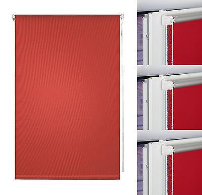 Klemmfix Rollo Verdunkelung Thermo Fenster Klemmrollo Seitenzugrollo Plissee Rot