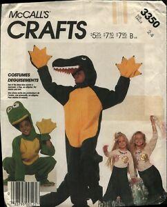 Vintage-1987-McCall-039-s-3350-Alligator-Frog-Mermaid-Costumes-Uncut-Sewing-Pattern