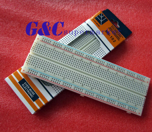 10 pcs X MB102 Breadboard 830 Point Solderless PCB Bread Board Test Develop DIY