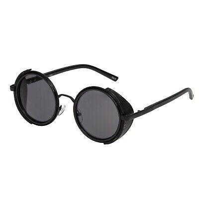 Ordinato Nero Steampunk Occhiali Cyber 50s Rotonda Occhiali Retrò Vintage Occhiali Da Sole Uv400-mostra Il Titolo Originale