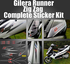 Gilera Runner Zig Zag Stickers, fl carbon, lightning, 621745, SP FX FXR VX VXR