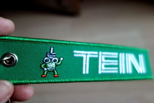 TEIN Embroidered Fabric Strap Keychain Keyring Tag Racing Car New Free Shipping