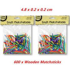 1000 Wooden Matchsticks DIY Matchsticks Natural Colour Match Sticks Toy BEST
