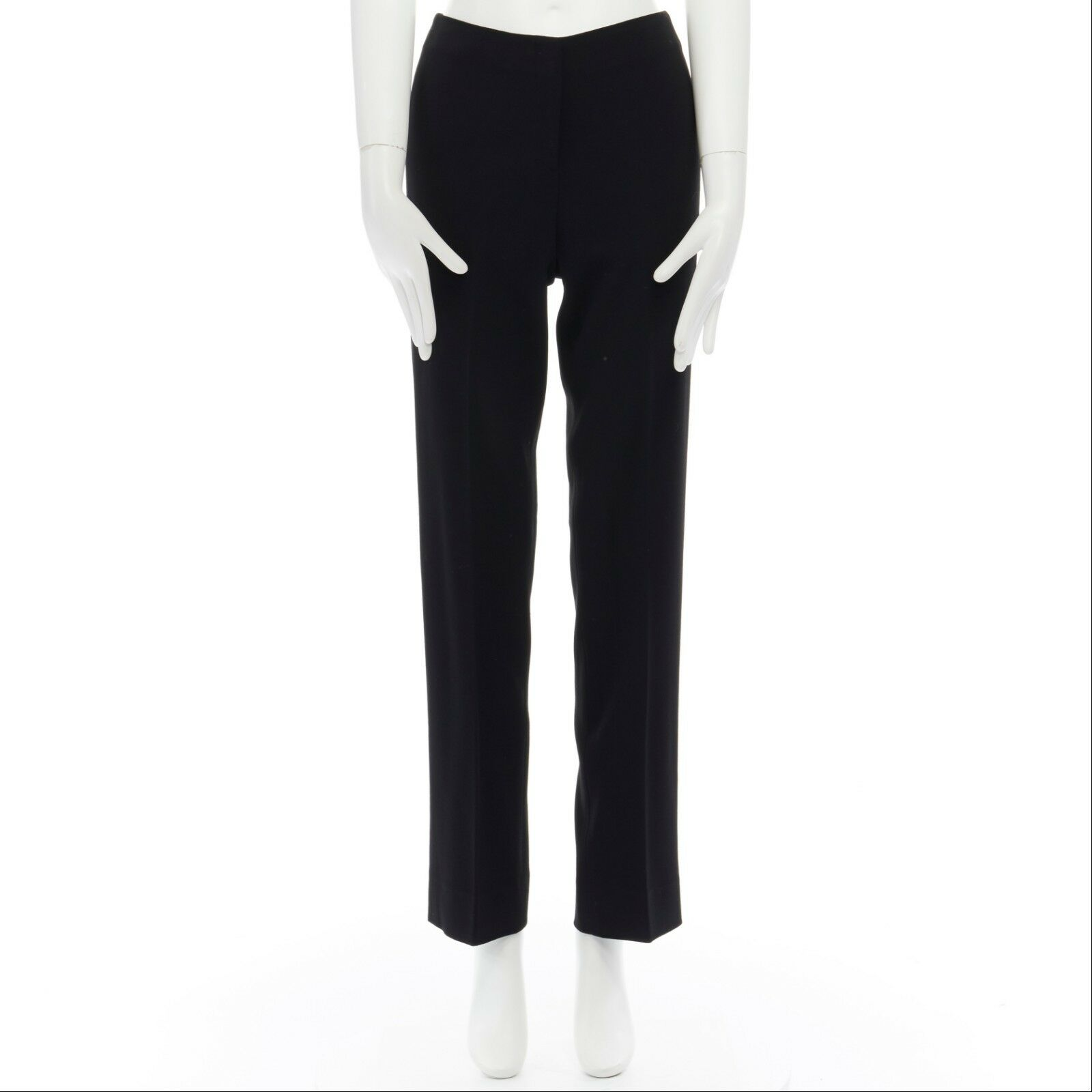 GIORGIO ARMANI 100% wool minimal concealed zip fly trousers pants IT36 XS