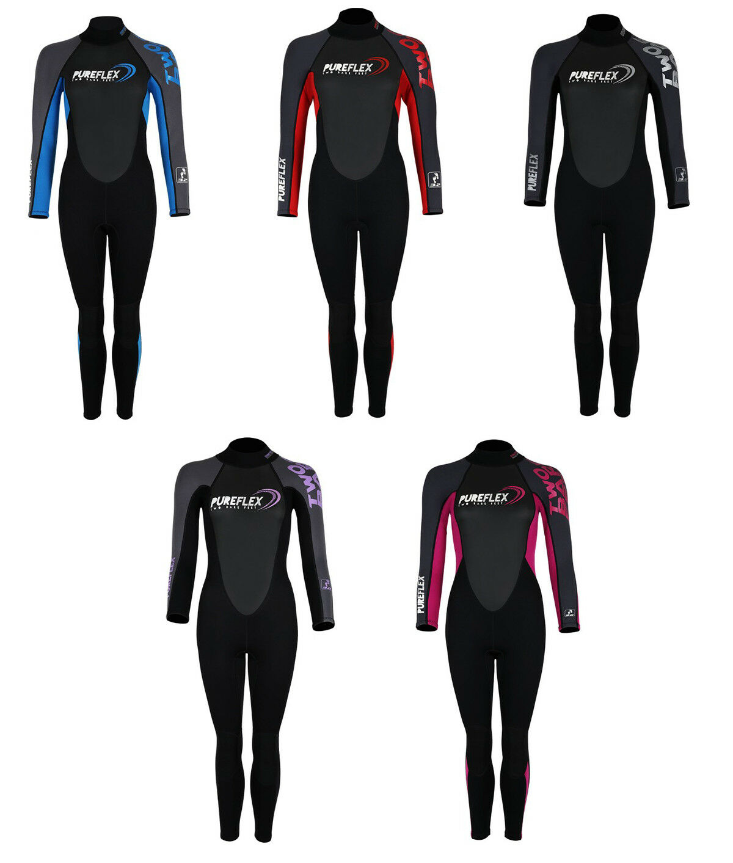 Two Bare Feet Womens PUREFLEX Full Length Wetsuit- Colour Choice New Design
