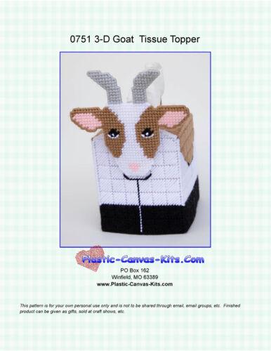 Goat  3-D Tissue Topper-Plastic Canvas Pattern or Kit
