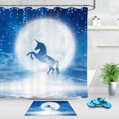 Moon And Stars Shower Curtain Set