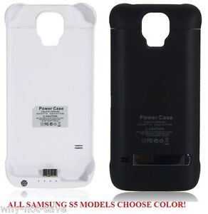 new arrivals 2d296 bb6a0 Details about Backup Power Bank Battery charger back cover Case for Samsung  Galaxy S5 SV Phone