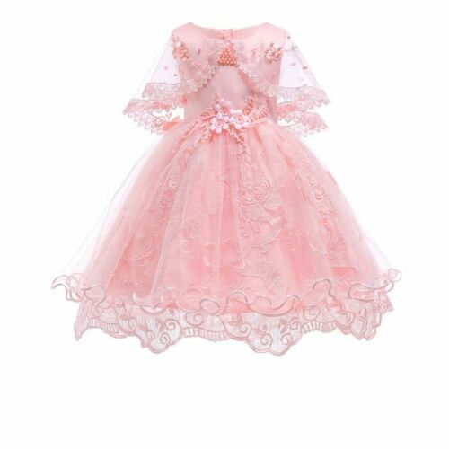 Flower Girl Dress Formal Baby Princess Bridesmaid Kid Party Tutu Dresses Gowns