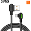 Mcdodo-3-PACK-6FT-90-Degree-Lightning-Charging-Cable-Charger-for-Apple-iPhone thumbnail 7