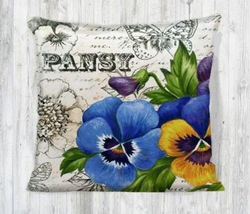 Pansy Daisy Anka Digital  Print 17/'/' x 17/'/' Pillow Cases Cushion Covers