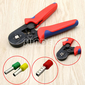 Mini Ratchet Crimper Plier Crimping Tool Kit Cable Wire Electrical ...