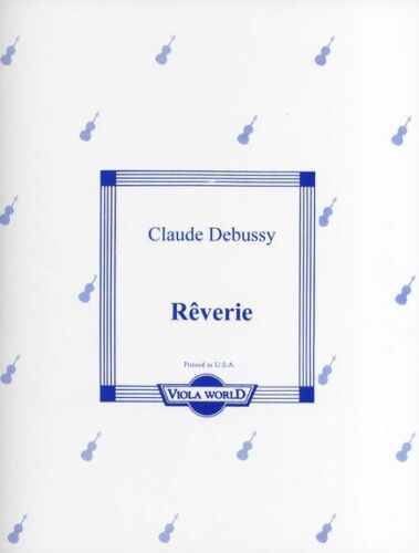 Claude Debussy Raverie Learn to Play Classical VIOLA Piano Music Book