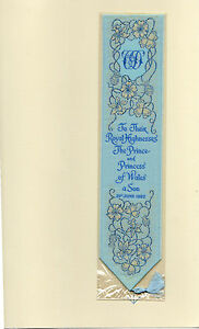 Cash-039-s-Silk-Woven-Bookmark-Prince-William-Royalty-Royal-Birth-Lady-Spencer-Gift