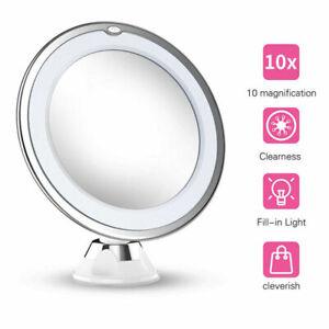 Grossissant Miroir Maquillage x10 Lumières LED Miroir de Salle de Bain Lumineux