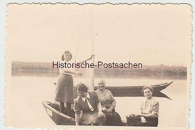 (f11314) Orig. Foto Personen Im Boot A.e. Kanal, 1940er Bequem Und Einfach Zu Tragen
