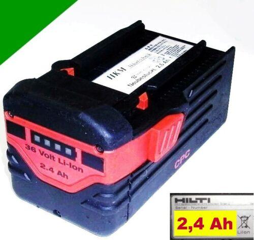 Hilti Akku  B36//2,4  Li  36 Volt  Li-Ion   2,4 Ah 2400 mAh