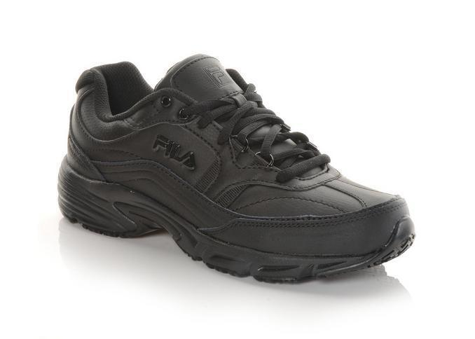 NIB Men's Fila Memory Workshift shoes Medium & Wide Width Black black