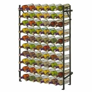 Large Wine Rack Metal Free Standing Floor Cellar Display Holder 60