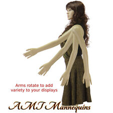 Female mannequin display sexy manquin, head rotate,dressform manikin-SP25+2Wigs