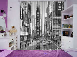 Prosperous-City-Streets-3D-Curtain-Blockout-Photo-Printing-Curtains-Drape-Fabric
