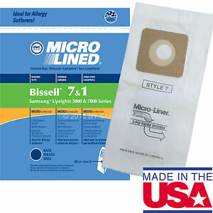 15 Vacuum Cleaner Bags for Bissell Style 1 & 7  30861 Microlined by DVC