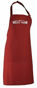 100% West Ham Fan Apron All Colours Available